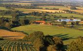typisch landschap van de  Bourbonnaise