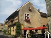 Leuk restaurant in Middeleeuws plaatsje
