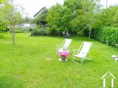 large garden with lawn