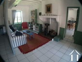 Living room in downstairs apartment in Farmhouse