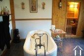Spacious bathroom with sauna on first floor