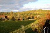 Prachtig uitzicht op wijngaarden in de Maranges vallei