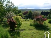 Mature and grassed garden with views