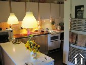 Practical kitchen for serving meals inside or outside