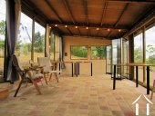Enjoy the outdoors from the shelter of the garden room