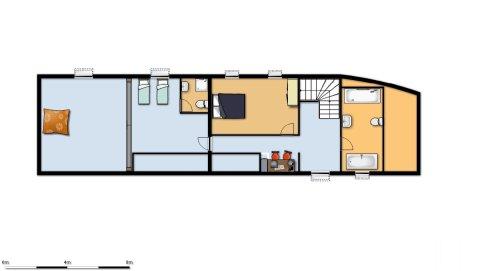 Woonhuis te koop moux en morvan bourgogne 8265 - Plan ouderslaapkamer met badkamer en kleedkamer ...