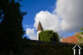 church spires as seen from garden