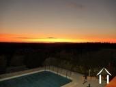 summer sunset seen from the terrace