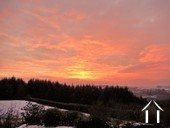 winter sunset enjoyed from the cosy salon