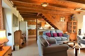 cosy salon and farmhouse kitchen