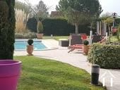 Tuin met zwembad