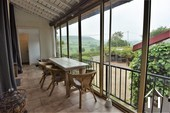 veranda with sliding doors