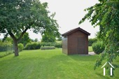 beautiful garden with garden shed