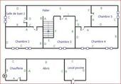 House upper floor plans & outbuildings.