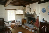 Kitchen with open fire