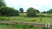 the vegetable garden with view on a field