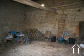 Inside attached barn