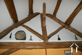 Upper floor beam structure