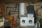 Laundry section of garage