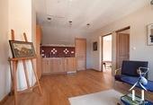upstairs salon with kitchenet