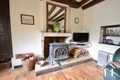efficient wood burner in salon