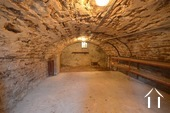 one of three vaulted cellars, this one used for the wine