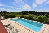 view over pool to field of nearly an acre