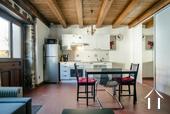 Kitchen area in studio