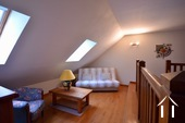 large mezzanine upstairs, leading to two bedrooms