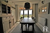 dining area with access to the garden