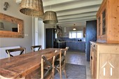 equipped kitchen and dining room