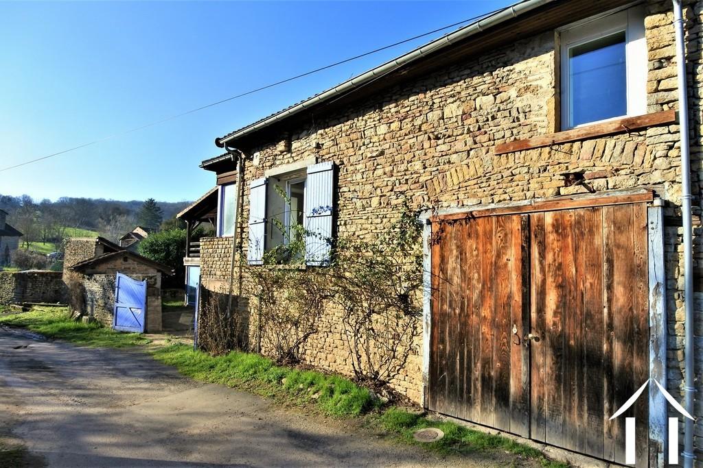 Huis met 3 slaapkamers en 3000m2 grond omgeving Cluny.